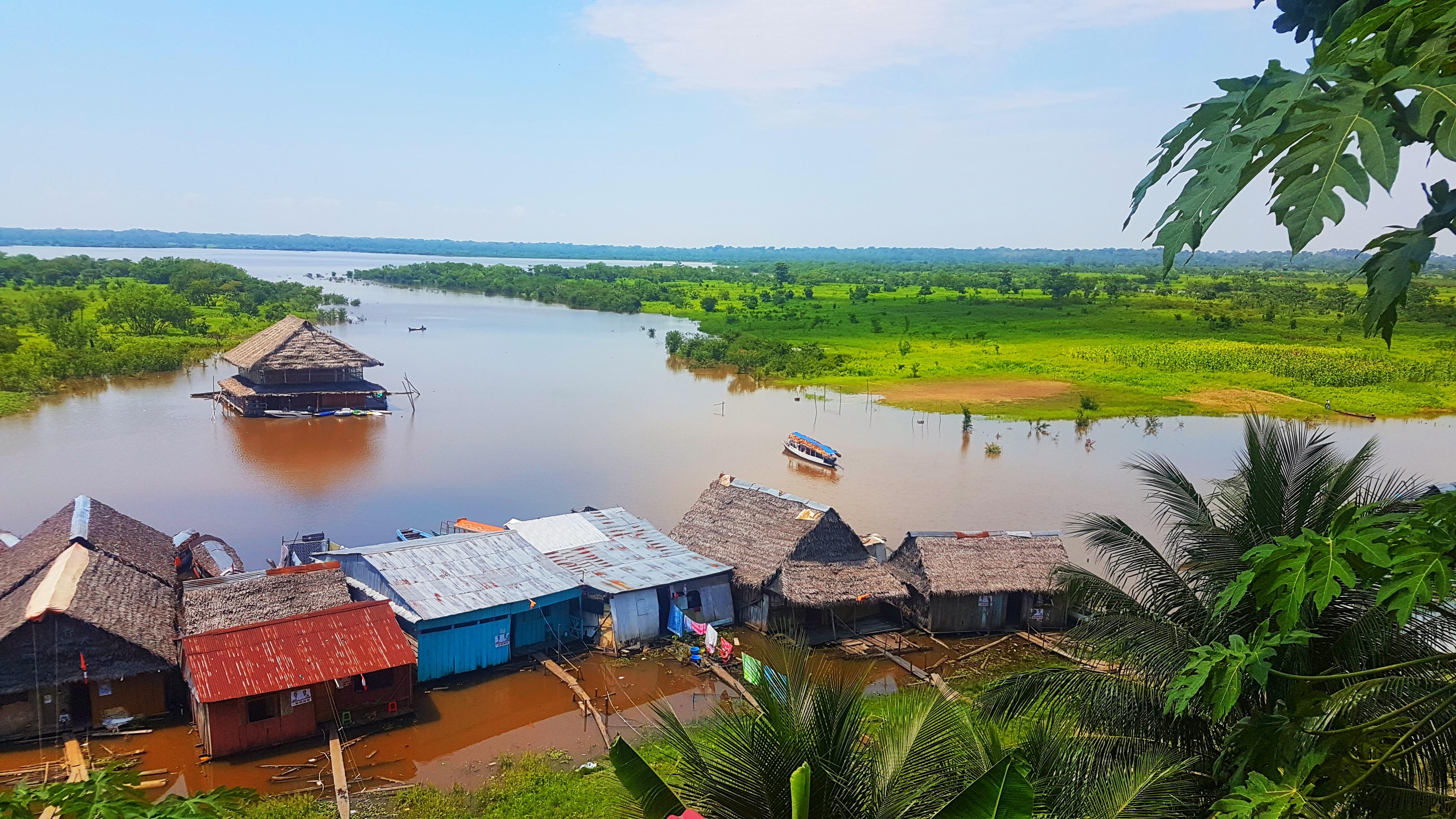 Vistas desde nuestro hotel en Iquitos