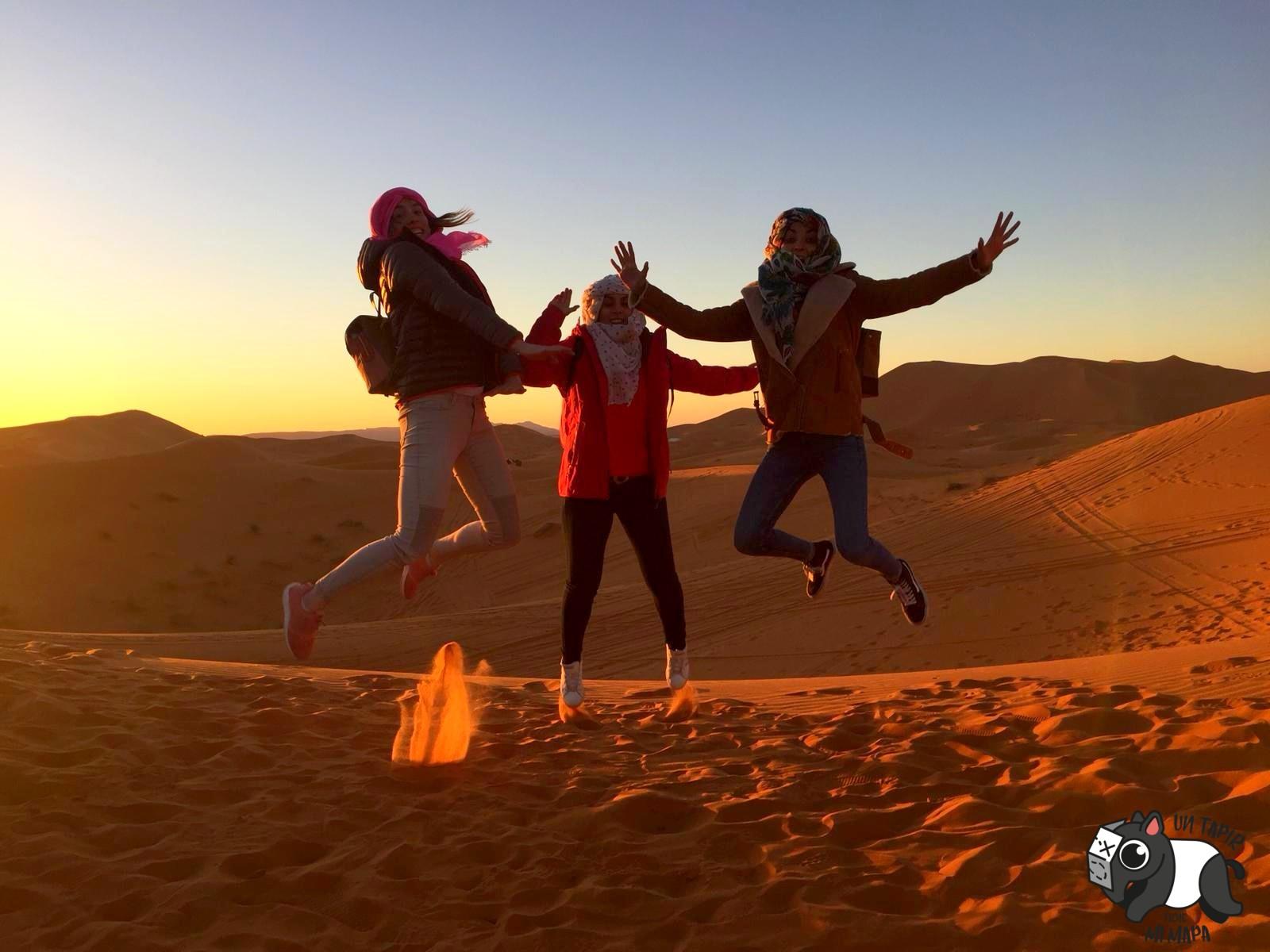 Salto en el desierto.