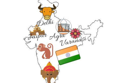 Mapa de India con mi itinerario
