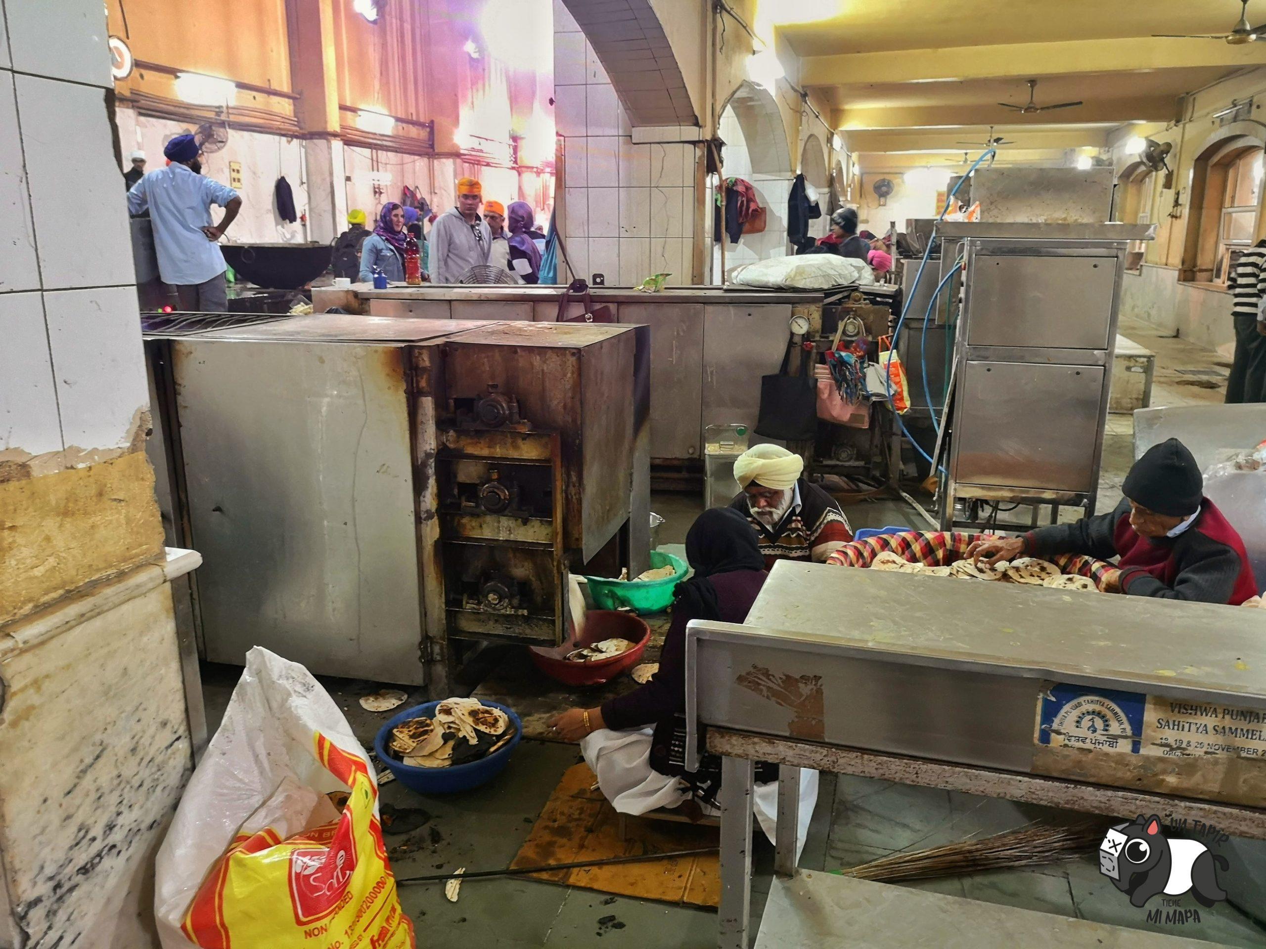 Cocina de Gurdwara Sahib Temple.